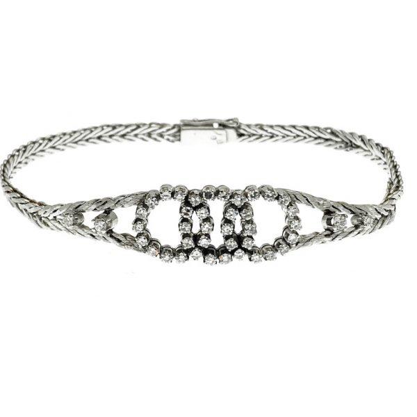 Armband witgoud met diamant