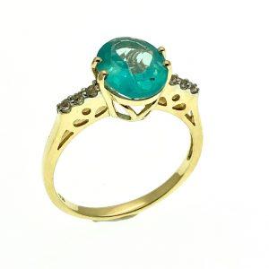 9 karaat ring met edelsteen