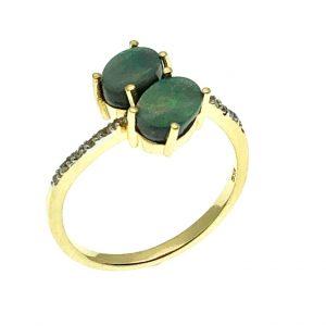 triplet opaal ring