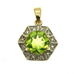 groene edelsteen hanger 9 karaat