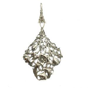 Bloemen hanger zilver