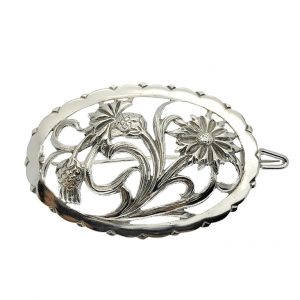 zilveren broche bloem