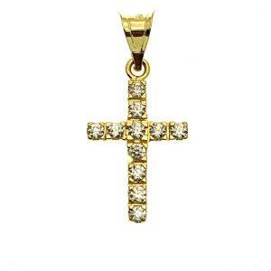 kruis hanger met steentjes