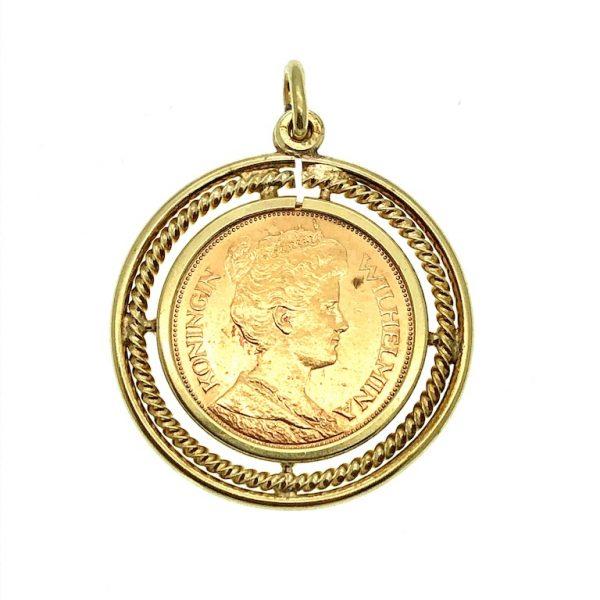5 gulden hanger; gouden vijfje