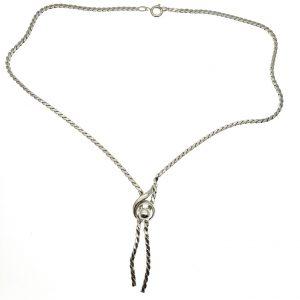 zilver ketting vaste hanger