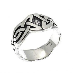 tribal zilveren ring