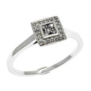 9 karaat ring met diamant