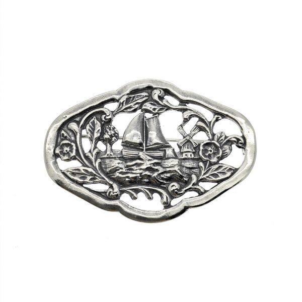 zilveren broche holland
