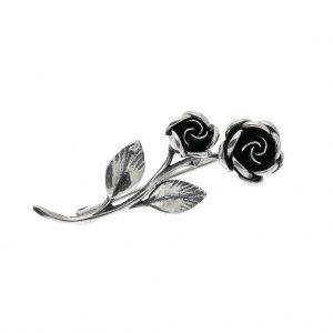 zilveren broche rozen