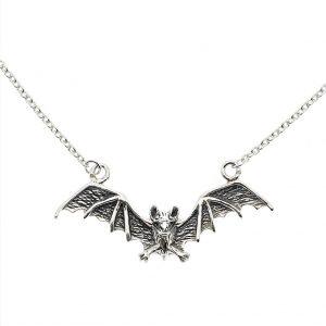 zilveren ketting vleermuis