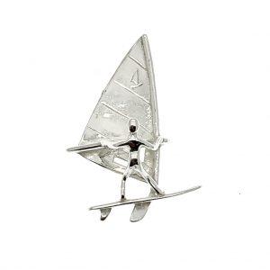 zilveren hanger zeil boot