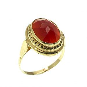 vintage ring met carneool steen