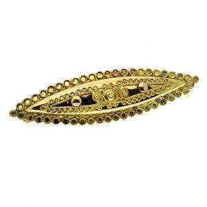 antiek gouden broche filigrain