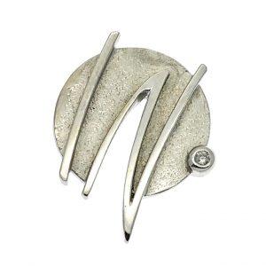 hanger witgoud met diamant