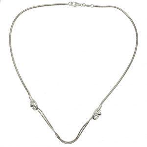 zilveren ketting slangenschakel