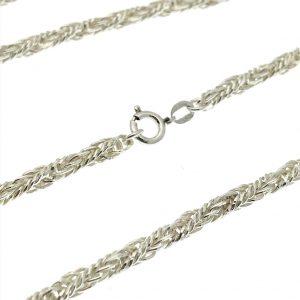 zilveren ketting gedraaide schakel
