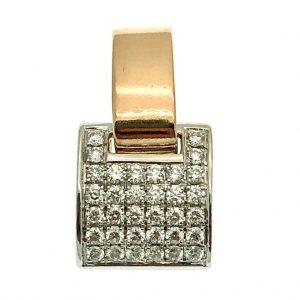 bicolor hanger diamanten