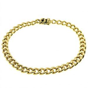 gourmet schakel armband goud