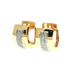 Oorbellen met diamant