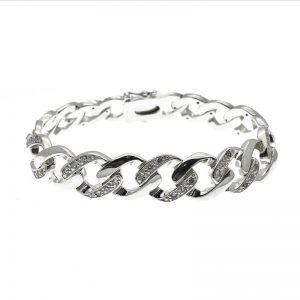 zilveren gourmet schakel armband