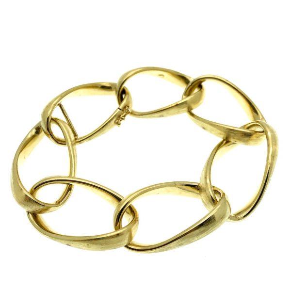 brede schakel armband goud