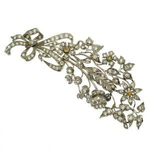exclusieve gouden broche met diamant