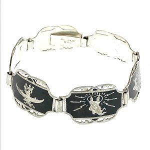Wajang armband zilver