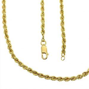 gouden gedraaide kabel ketting