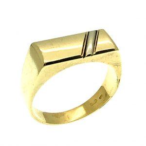 Bicolor gouden heren ring