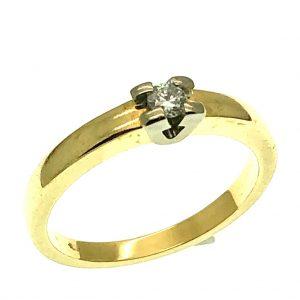 ring diasonde diamant solitair