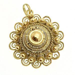gouden Zeeuwse knop hanger