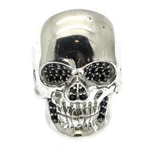 zilveren ring schedel