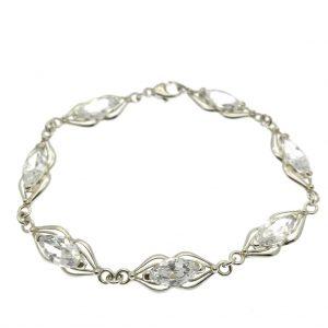 zilveren armband zirconia stenen