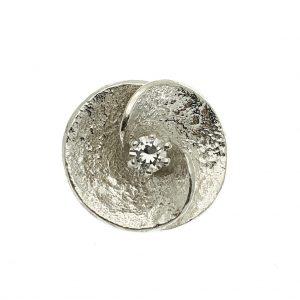 zilveren fantasie hanger zirconia