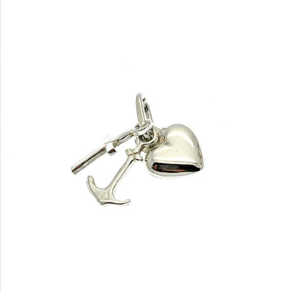 geloof hoop liefde zilveren hanger