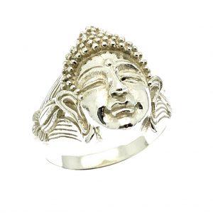 zilveren ring buddha