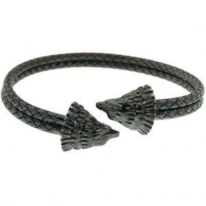 zilveren armband met adelaarskop