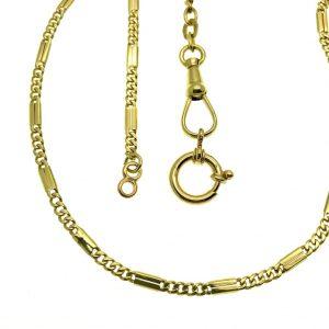 gouden gesloten figaro schakel ketting