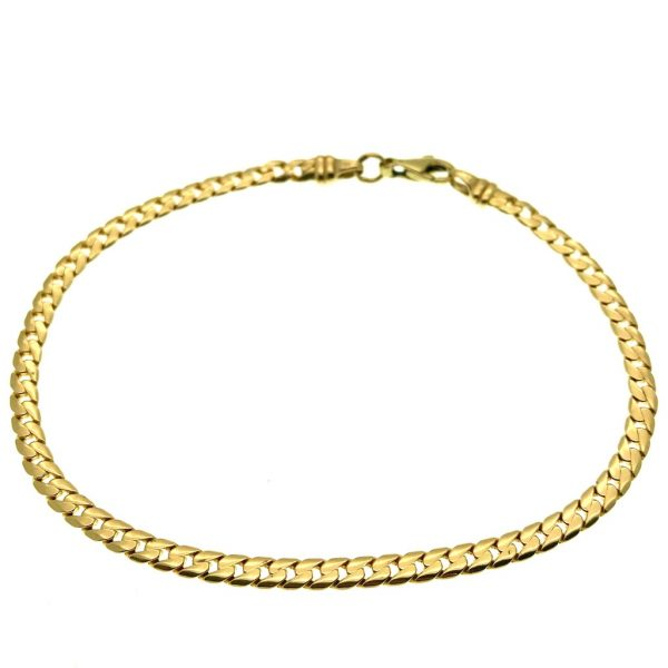 gouden platte gourmet schakel armband
