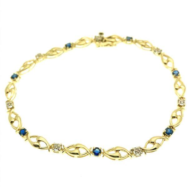Armband diamant en saffier