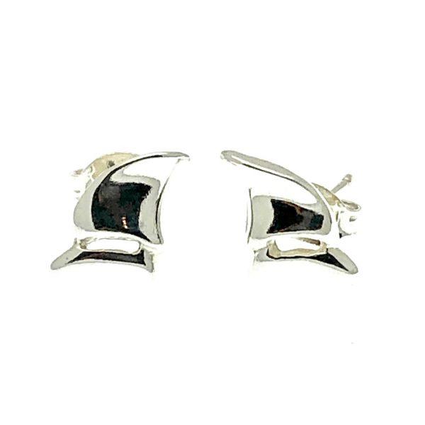 zilveren fantasie oorstekers