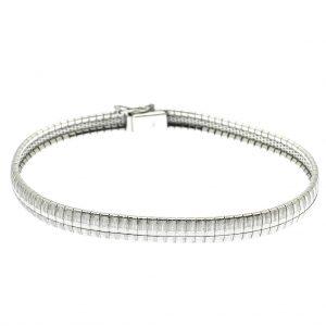 zilveren boa schakel armband