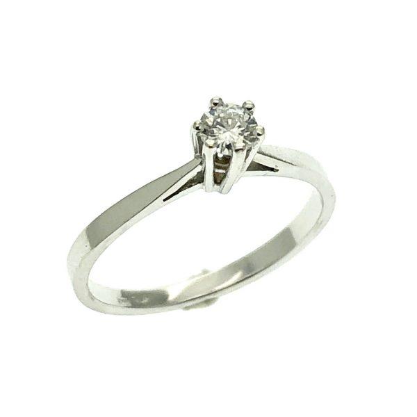 witgouden ring diamant solitair