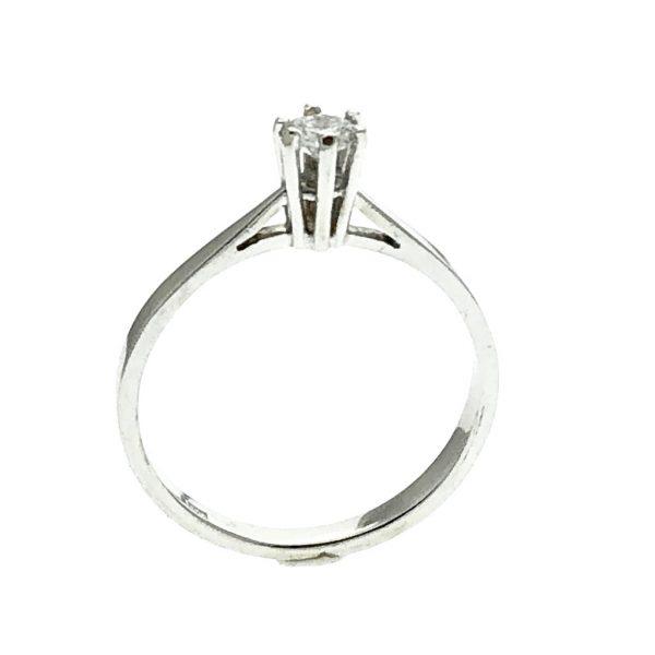 Witgouden solitair ring met diamant