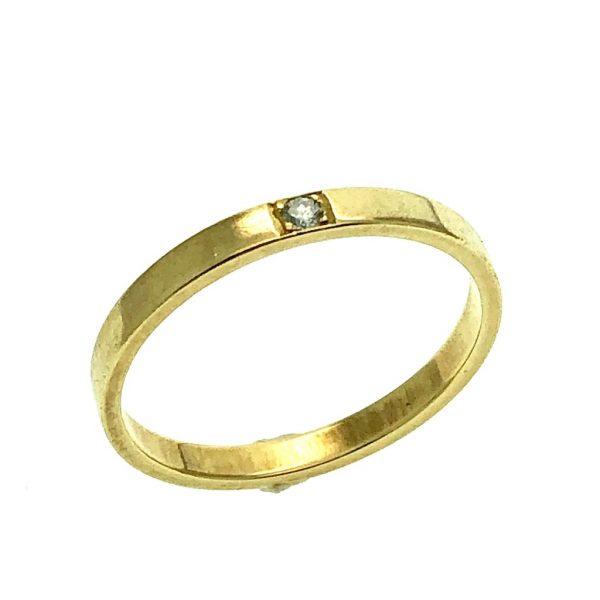 gouden ring diamant solitair