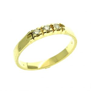 gouden rijring diamant