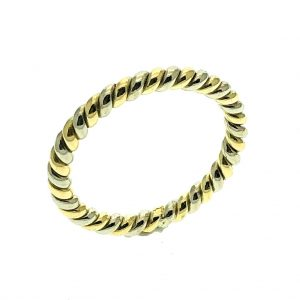 bicolor gouden ring gedraaid