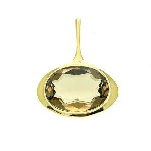 gouden hanger met rookkwarts