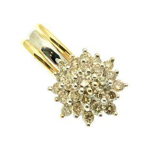 Gouden hanger vol gezet met diamanten exclusief
