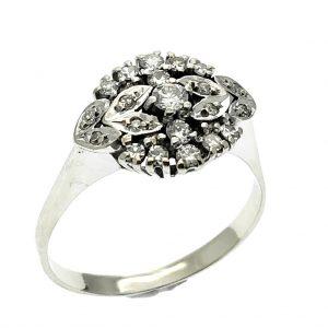 witgouden art nouveau ring diamanten